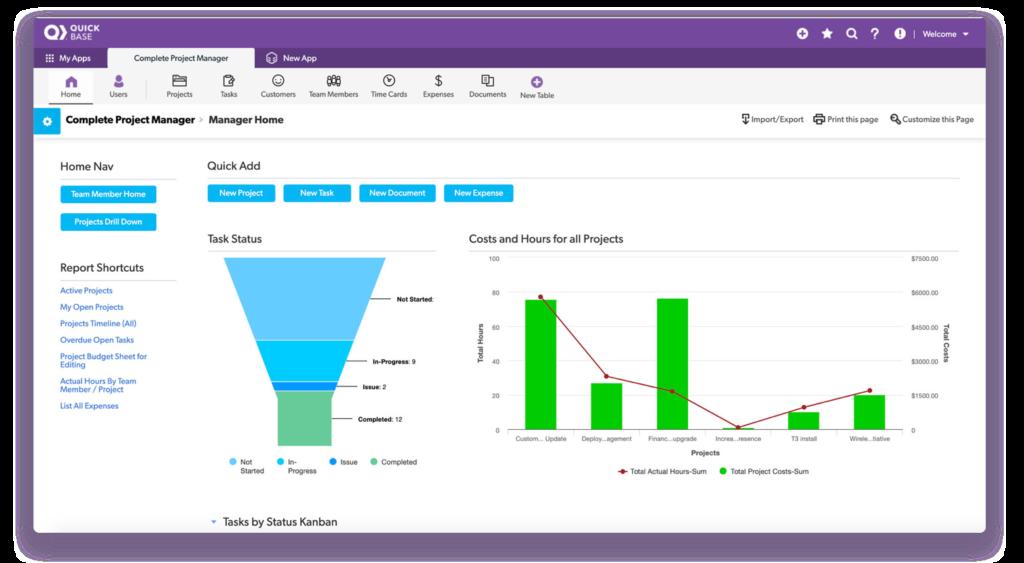 Quick-Base-analytics-data-dashboard